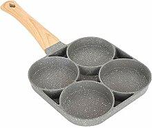 Poêle à oeufs 4 tasses, casserole à oeufs en