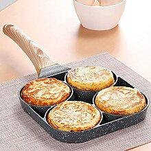 Poêle à omelette avec 4 trous pour œufs à