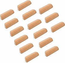 Poignée de tirage de bouton en bois d'armoire