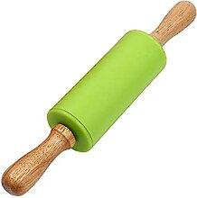Poignée en bois rouleau de silicone rouleau de