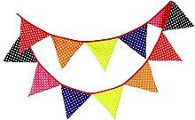Point d'onde multicolore Fanion en Coton