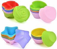 POKIENE Moule à Muffin Silicone 36 PCS,
