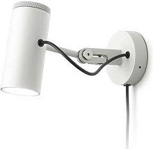 POLO-Spot LED patère H10cm blanc satiné Marset -