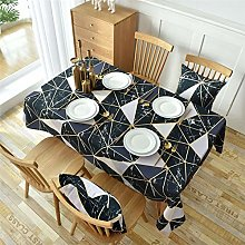 Polyester Noir Et Blanc Triangle Impression