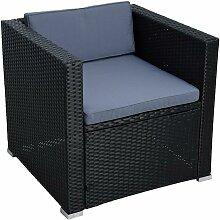 Polyrattan longue chaise de jardin chaise rotin