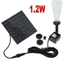 Pompe à eau solaire 1.2W, panneau solaire,