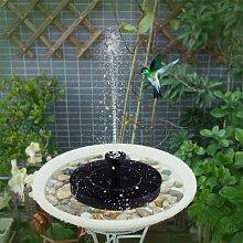 Pompe à énergie solaire pour bain d'oiseaux,