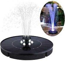 Pompe de fontaine à eau solaire avec lumière