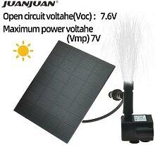 Pompe de fontaine solaire 7V/1.2W, Circulation