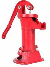 Pompe de puits à eau manuelle, pichet en fonte,