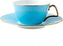 POOO Ensemble de Tasse et Soucoupe à café, Tasse