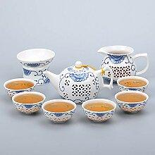 Porcelaine bleue et blanche EXQUISITE Tea Ensemble