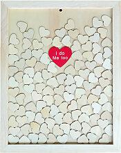Portable Originalite Loving-Coeur Copeau De Bois