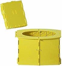 Portable pliant toilette pot lavable robuste