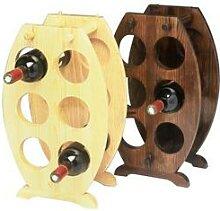 Porte 6 bouteilles bois en forme de tonneau