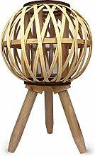 Porte bougie décorative à poser en bois,
