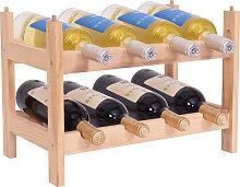 Porte-bouteille de vin de casier à vin en bois