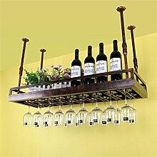 Porte-bouteilles de vin en fer à vin en verre à