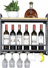 Porte-bouteilles de vin mural en métal |