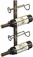 Porte-bouteilles de vin suspendu en fer forgé