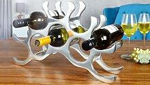 Porte-bouteilles design aluminium poli - Bruder