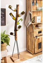 Porte-bouteilles en bois recyclé Gureh Bois
