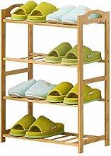 Porte-chaussures Meuble à chaussures en bambou