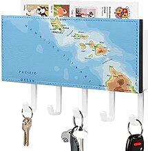 Porte-clés,crochet de clé mural,Carte du monde