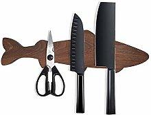 Porte-couteau en bois magnétique, bloc de couteau
