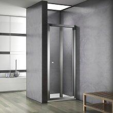 Porte de douche 90x187cm porte de douche pliante