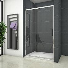 Porte de douche coulissante 140x190cm en niche