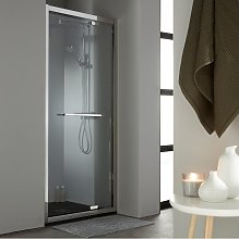 Porte de douche pivotante 90 cm en inox chromé