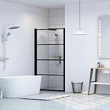 Porte de douche Verre trempé 91x195 cm Noir