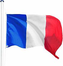 Porte Drapeau avec 1 Drapeau de la France en