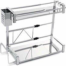 Porte-épices en acier inoxydable 2 niveaux