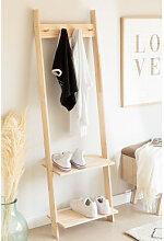 Porte-manteau avec étagère à chaussures en bois