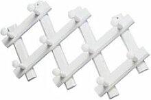 Porte manteaux bois accordeon  blanc PM08-LB