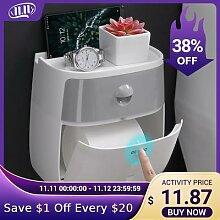 Porte-papier de toilette mural étanche, boîte de