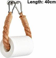 Porte-papier hygiénique en corde de jute,