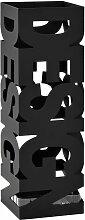 Porte-parapluie Acier Design Noir