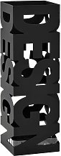 Porte-parapluie Design Acier Noir HDV12717 - Hommoo