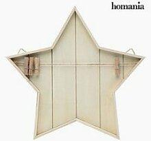 Porte photo étoile décorative avec corde et