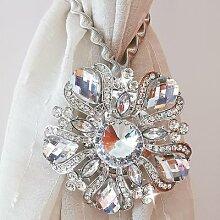 Porte-rideau magnétique avec gros diamant,