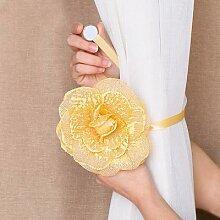 Porte-rideau magnétique en forme de fleur, 1