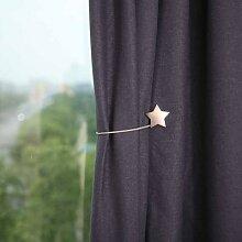 Porte-rideau magnétique porte-bonheur étoile,