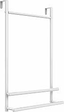 Porte-serviette de porte blanc H76cm