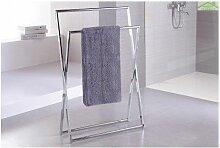 Porte-serviette sur pied NOVELLINI en laiton