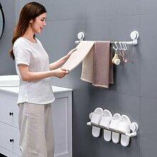 Porte-serviettes à ventouses, sans perforation,