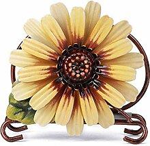 Porte-serviettes Tournesol, Vintage Fer Art Fleur