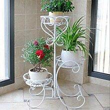 Porte-usine rack étagère fleur en métal Porte